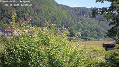 view from Webcam in Bad Schandau Sächsische Schweiz on 2021-06-14