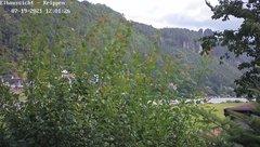 view from Webcam in Bad Schandau Sächsische Schweiz on 2021-07-19
