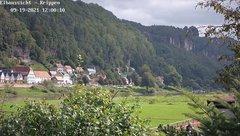 view from Webcam in Bad Schandau Sächsische Schweiz on 2021-09-19