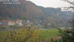 view from Webcam in Bad Schandau Sächsische Schweiz on 2021-10-26