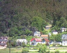 view from Webcam in Bad Schandau, Krippen & Postelwitz on 2021-06-14