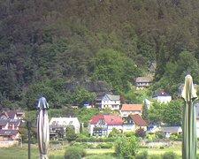 view from Webcam in Bad Schandau, Krippen & Postelwitz on 2021-06-15