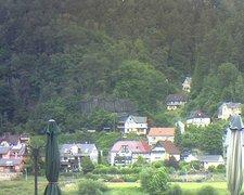 view from Webcam in Bad Schandau, Krippen & Postelwitz on 2021-07-05