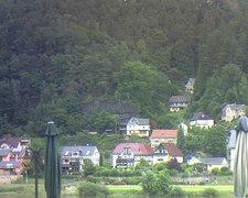view from Webcam in Bad Schandau, Krippen & Postelwitz on 2021-07-14