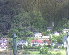 view from Webcam in Bad Schandau, Krippen & Postelwitz on 2021-07-18