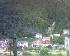 view from Webcam in Bad Schandau, Krippen & Postelwitz on 2021-07-20
