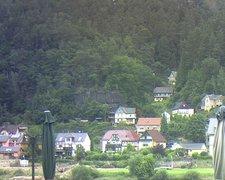 view from Webcam in Bad Schandau, Krippen & Postelwitz on 2021-07-22