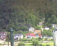view from Webcam in Bad Schandau, Krippen & Postelwitz on 2021-07-25