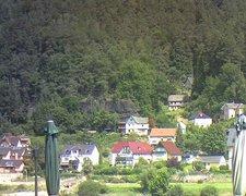 view from Webcam in Bad Schandau, Krippen & Postelwitz on 2021-07-26