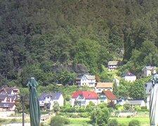 view from Webcam in Bad Schandau, Krippen & Postelwitz on 2021-07-29