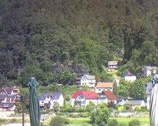view from Webcam in Bad Schandau, Krippen & Postelwitz on 2021-07-30