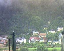 view from Webcam in Bad Schandau, Krippen & Postelwitz on 2021-08-01