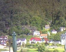 view from Webcam in Bad Schandau, Krippen & Postelwitz on 2021-09-06