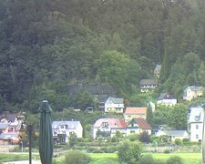 view from Webcam in Bad Schandau, Krippen & Postelwitz on 2021-09-20