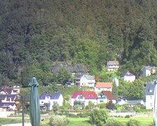 view from Webcam in Bad Schandau, Krippen & Postelwitz on 2021-09-23