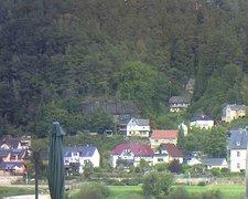 view from Webcam in Bad Schandau, Krippen & Postelwitz on 2021-09-24