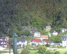 view from Webcam in Bad Schandau, Krippen & Postelwitz on 2021-09-25