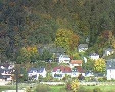 view from Webcam in Bad Schandau, Krippen & Postelwitz on 2021-10-20