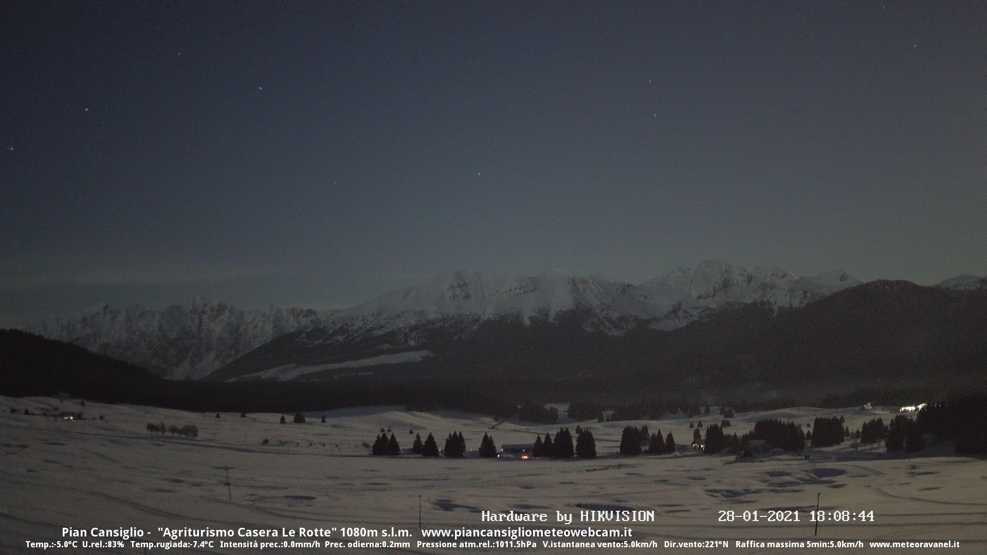 time-lapse frame, Salita al Guslon 28.01.2021 webcam