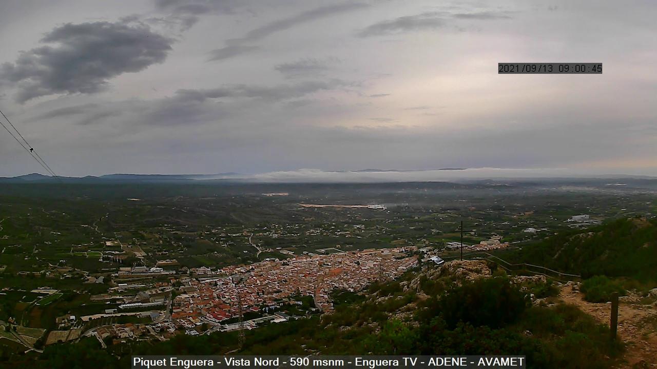 time-lapse frame, Enguera ADENE webcam